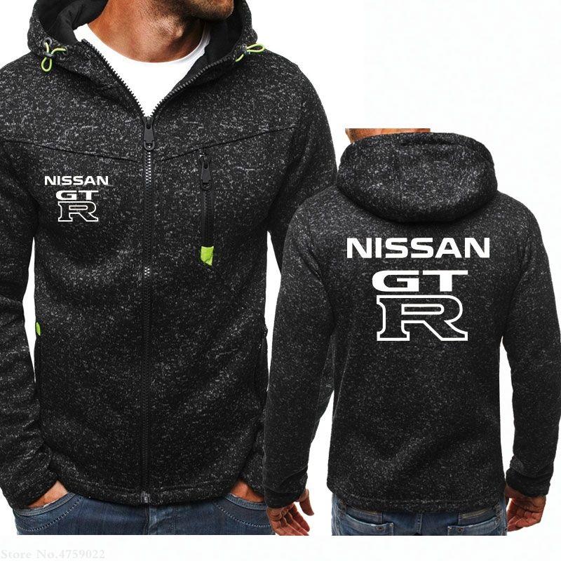 inverno primavera outono para o homem da moda zipper casaco Nissan GTR camisola Hoodies topos Jackets Man