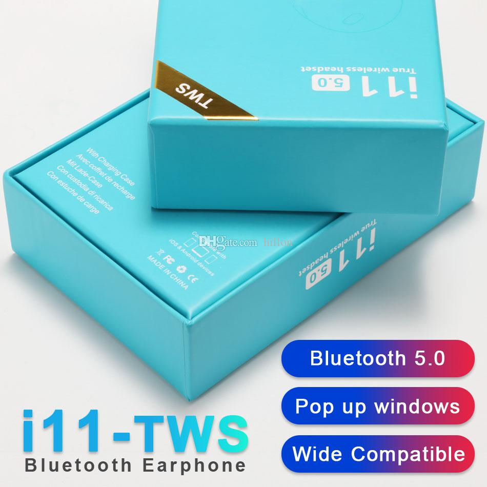 Earphones I11 TWS Bluetooth 5.0 Wireless Bluetooth Earphone Earbuds Touch Control Mini Earpieces For IPhone Samsung Huawei With Charging Box Best