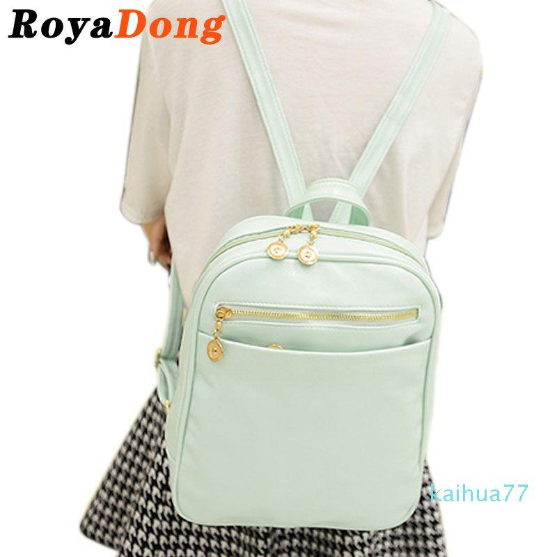 Designer-viagem mochila couro mulheres sacos adolescentes saco livro bonito escola outdoor pack feminina meninas de volta para wfrvo