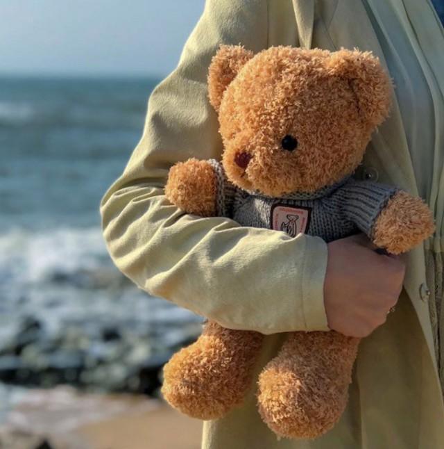 Seaweed fleece sweater teddy bear scarves bear doll ragdoll cute plush toy children's gift