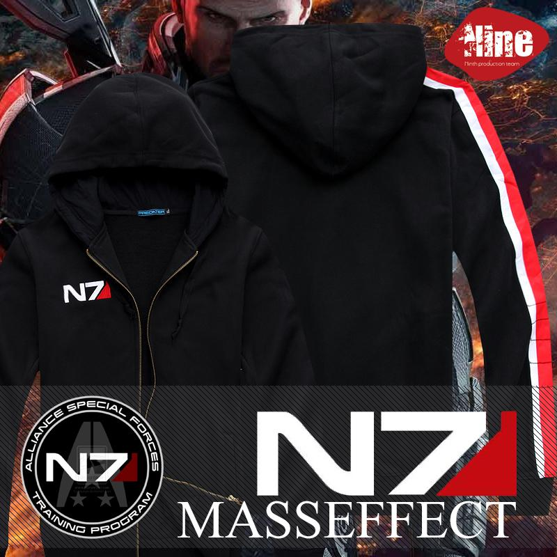 Cool Game Mass Effect 3 N7 Cotton Blende Cosplay Costume Hoodie Coat Jacket New Free Shipping J190523