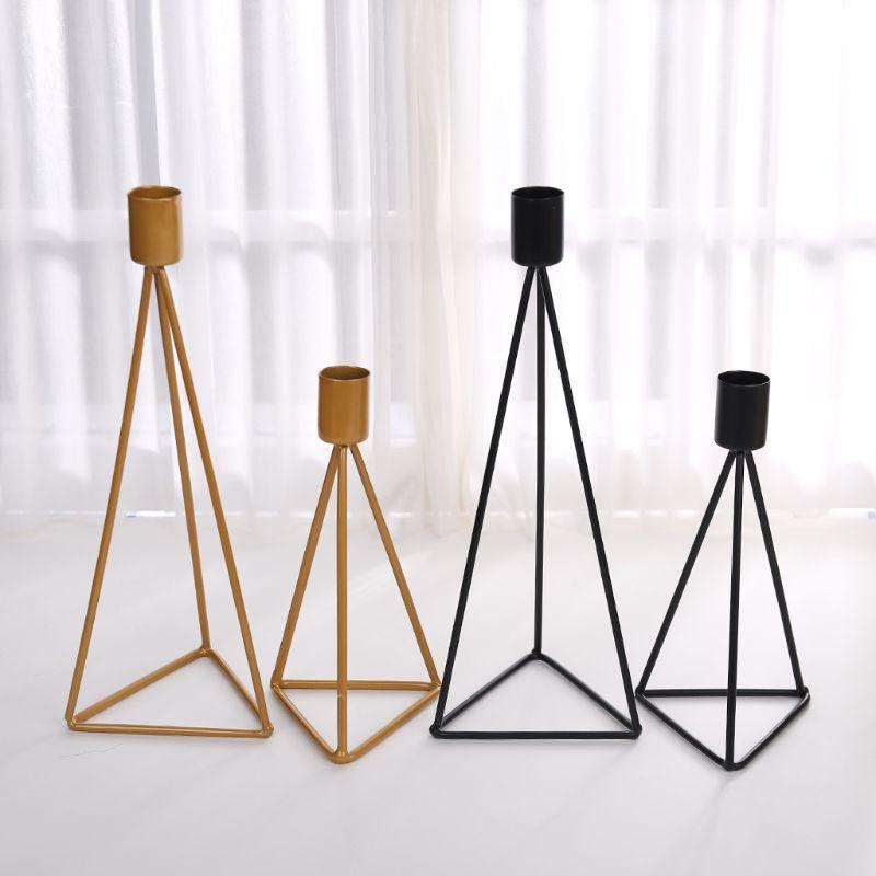 Triangle Geometric Candlestick Tealight Candle Holder Stand Wedding Party Decor
