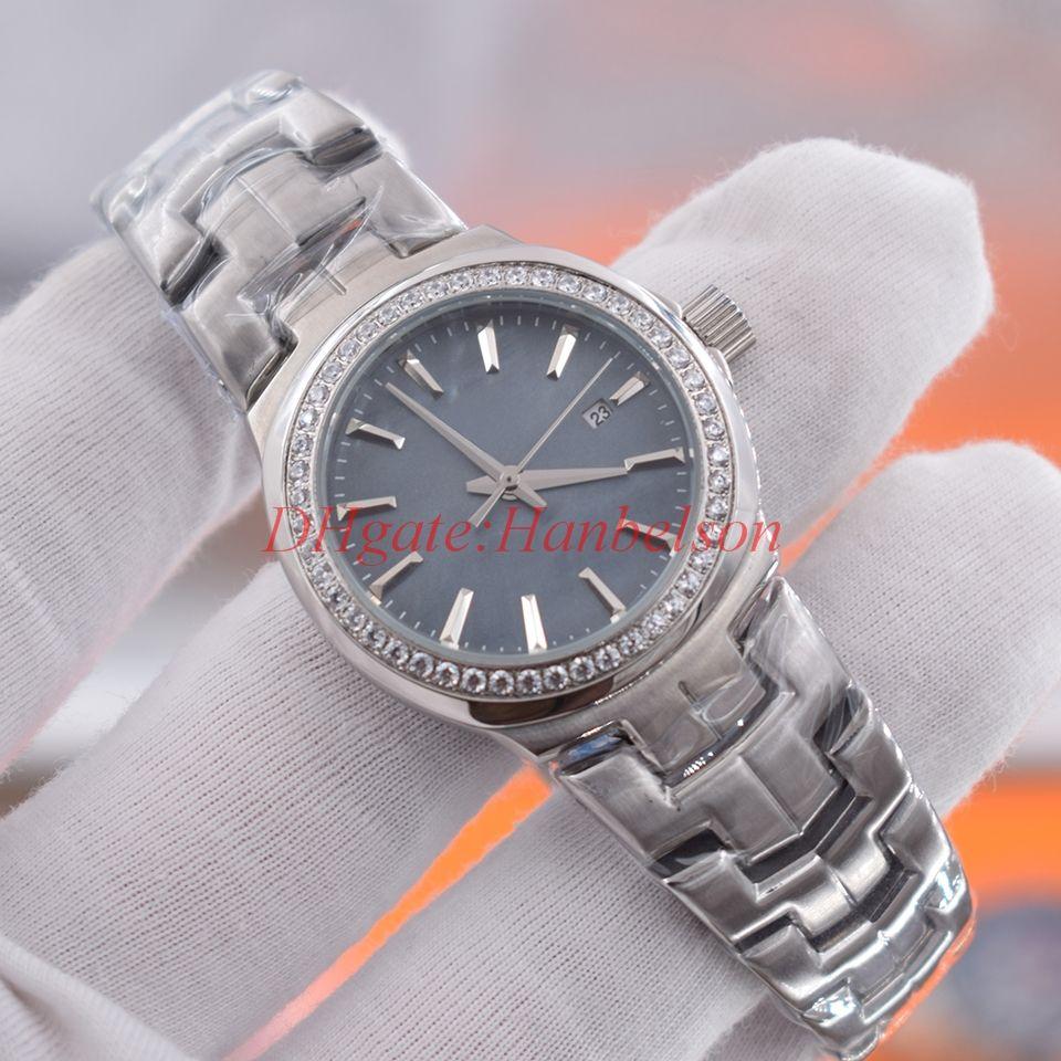 YENİ Kadın lüks elmas izle Montres De Luxe Femmes Moda Shell saatı Dial dökün saatler
