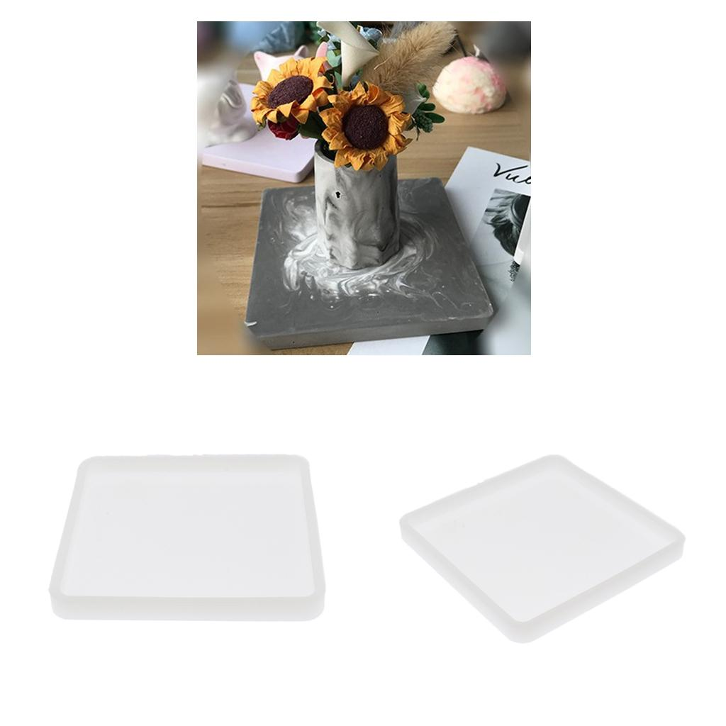 2x Coaster Mat Mold Silicone Mould for DIY Soap Candle Epoxy Resin Casting