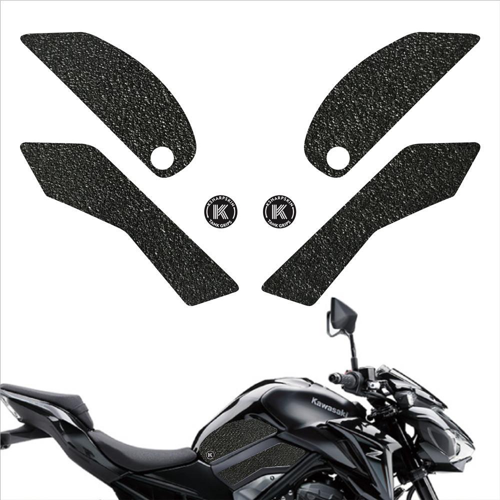 Motocicleta agarre tanque de almohadilla de protección del tanque de combustible de gasolina etiqueta almohadilla de rodilla calcomanía lado de tracción para KAWASAKI Z900 ABS 2017-2018