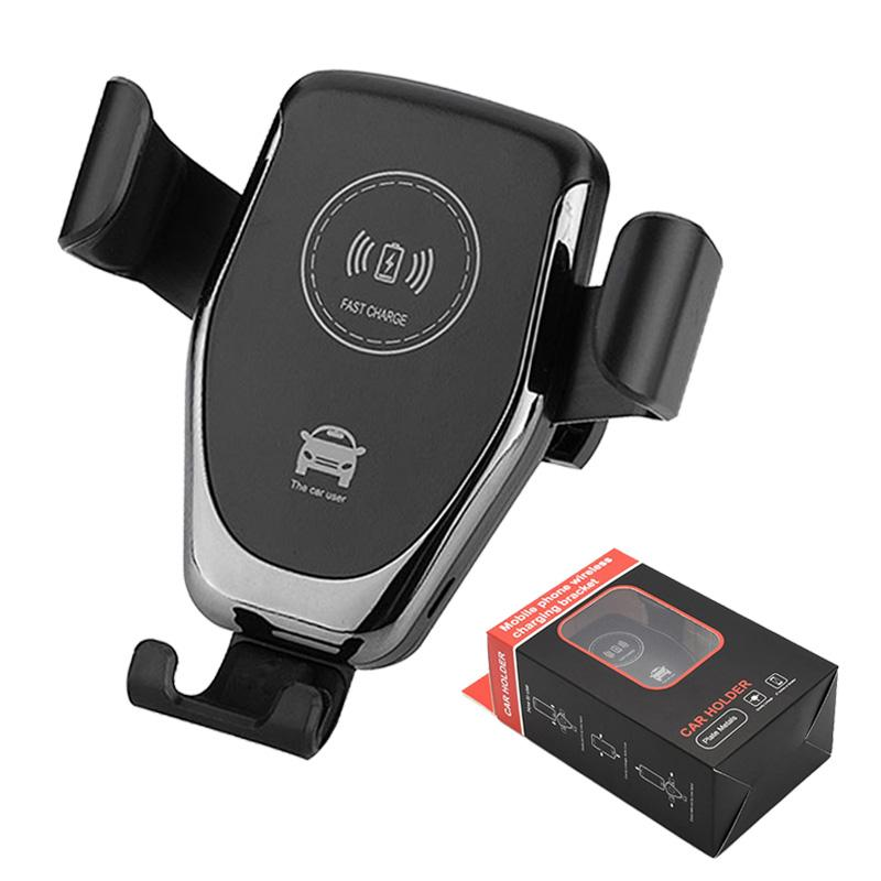Wireless Car Charger 10W QI Fast Charger Gravity ricarica compatibile Car Mount Holder telefono cellulare One Step Air Vent Stand con scatola al minuto