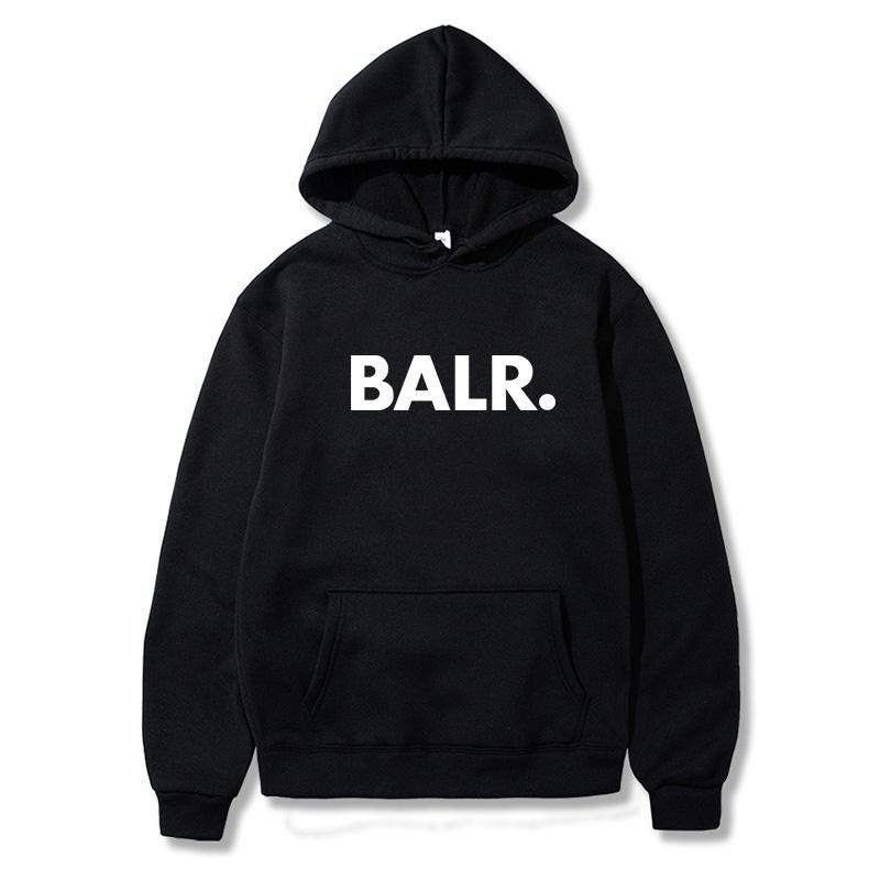 BALR tasarımcı kapüşonlu Moda Erkekler Hoodies 2020 İlkbahar Sonbahar Erkek Casual Hoodies Sweatshirt Erkek Katı Renk Hoodies Kazak Tops