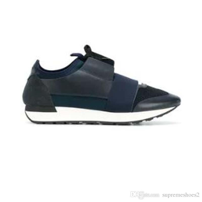 Nouveau mode Chaussures Homme Femme Casual Sneaker extérieur Bleu Bas Couleurs mélangées Race Chaussures Runner Taille 35-46 g6o