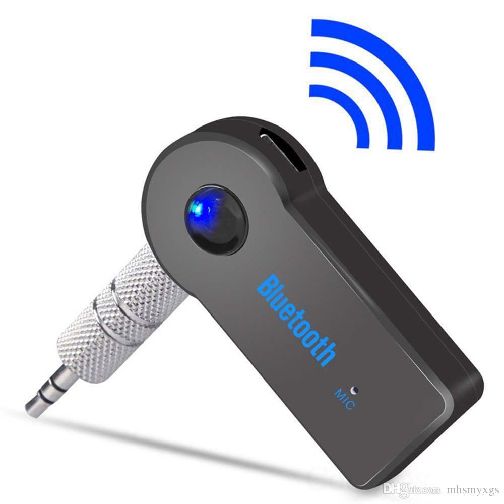 الارسال محول بلوتوث استقبال 3.5MM AUX الصوت التوصيل اللاسلكي الموسيقى للحصول على سيارة MP3 مكبر الصوت سماعة أيدي الكلمة الحرة