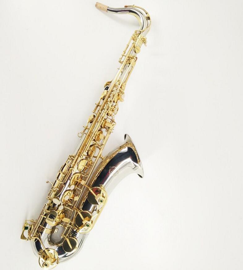 Nuovo SUZUKI Tenor Saxophone Marchio di qualità in ottone strumenti musicali nichelato Corpo Oro lacca chiave Bb Tune Sax con il caso Bocchino