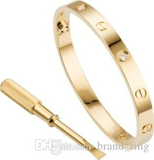 acciaio inossidabile della moda di New Rose Gold 2019 vite braccialetto con il cacciavite a vite laccio non perdere mai l'amore testimone good5