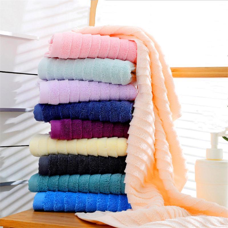 Hersteller Großhandel neue Wellenmuster Baumwolle verdickte Handtuch, plain Erwachsene High-End-Gesicht waschen Handtücher können individuell angepasst werden Stickerei