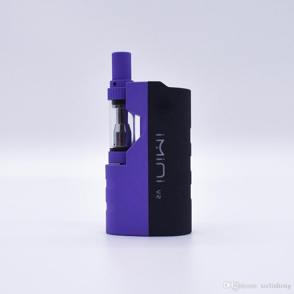 Originale Imini Vtwo Kit 650mAh 510 Discussione Batteria preriscaldare Box Mod con cartuccia Vape I1 Spesso olio Liberty V1 Cera vaporizzatore penna
