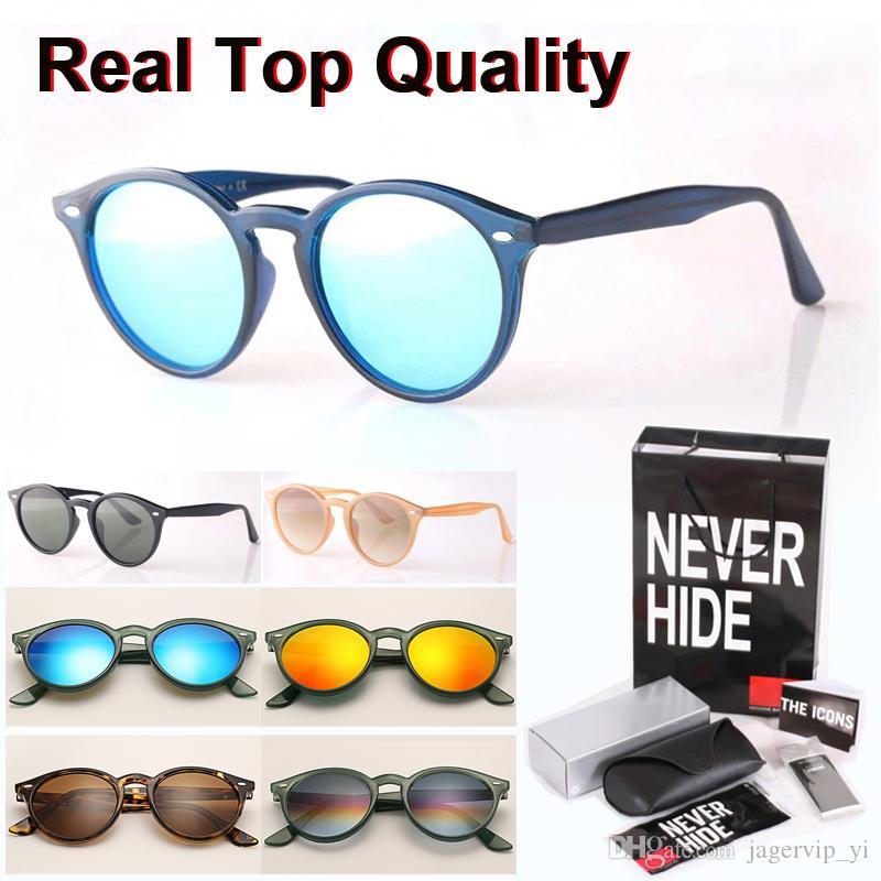 العلامة التجارية مصمم النظارات الشمسية 2180 جولة الرجال النساء إطار لوح المفصلي المعادن (عدسة زجاجية) مع المربع الأصلي، وحزم، والاكسسوارات، كل شيء!