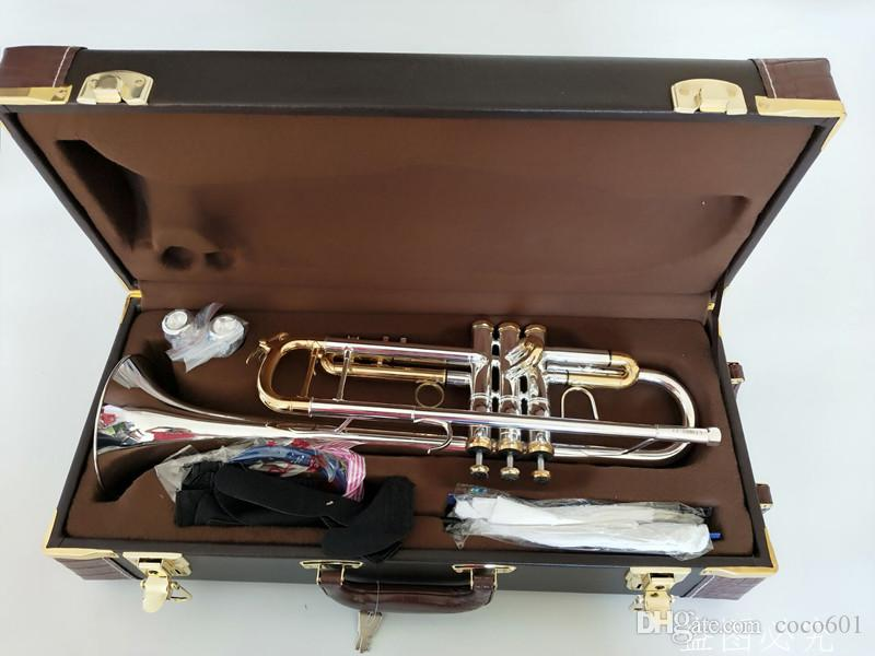 Bach Stradivarius LT180S-72 trompeta auténtica doble plateado bemol trompeta profesional superior de los instrumentos musicales de latón