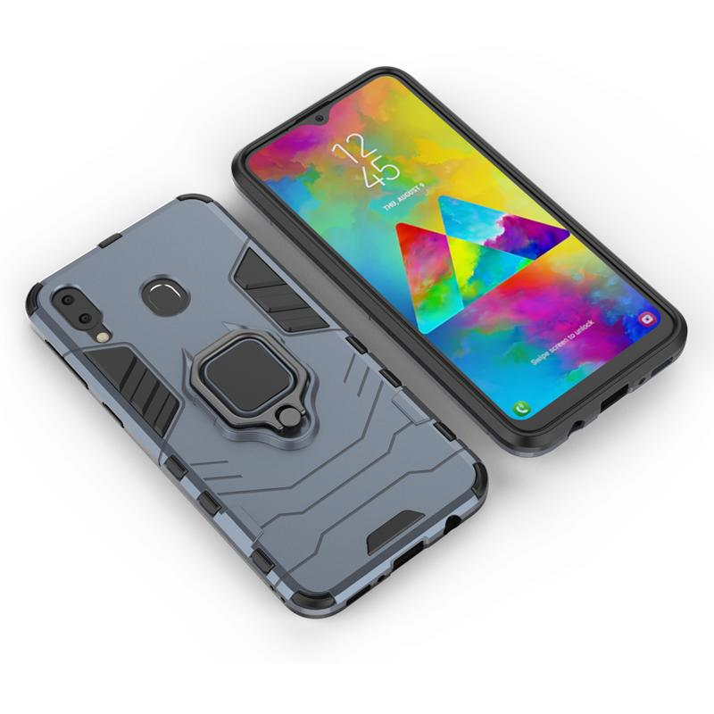 Magnethalter Telefon-Kasten für Samsung M20 Case Metall Telefon-Finger-Ring Auto-Standplatz-Halter-Abdeckungs-Fall