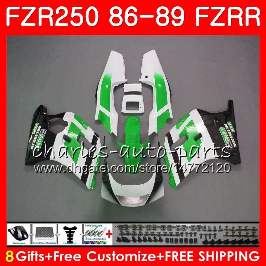 YAMAHA FZRR FZR 250R için sıcak satış yeşil FZR250R 86 87 88 89 123HM.100 FZR250 86 FZR-250 FZR 250 FZR250RR 1986 1987 1988 1989