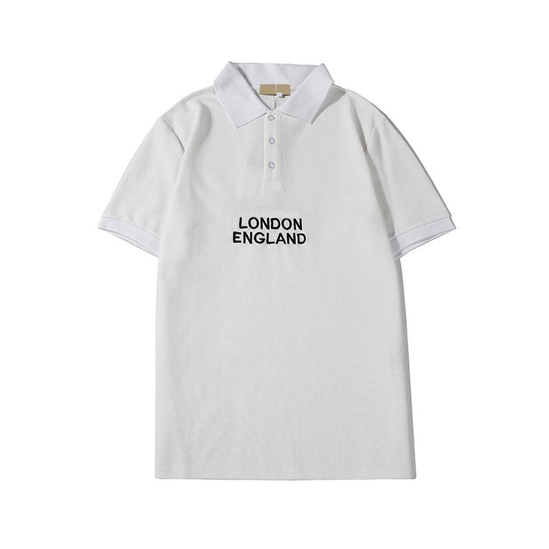 Moda Lüks Mektupları Yaz İngiltere Stil Kısa Kollu Shirt 2020 Yeni Geliş Yüksek Kalite Tops ile Mens Tasarımcısı Polos