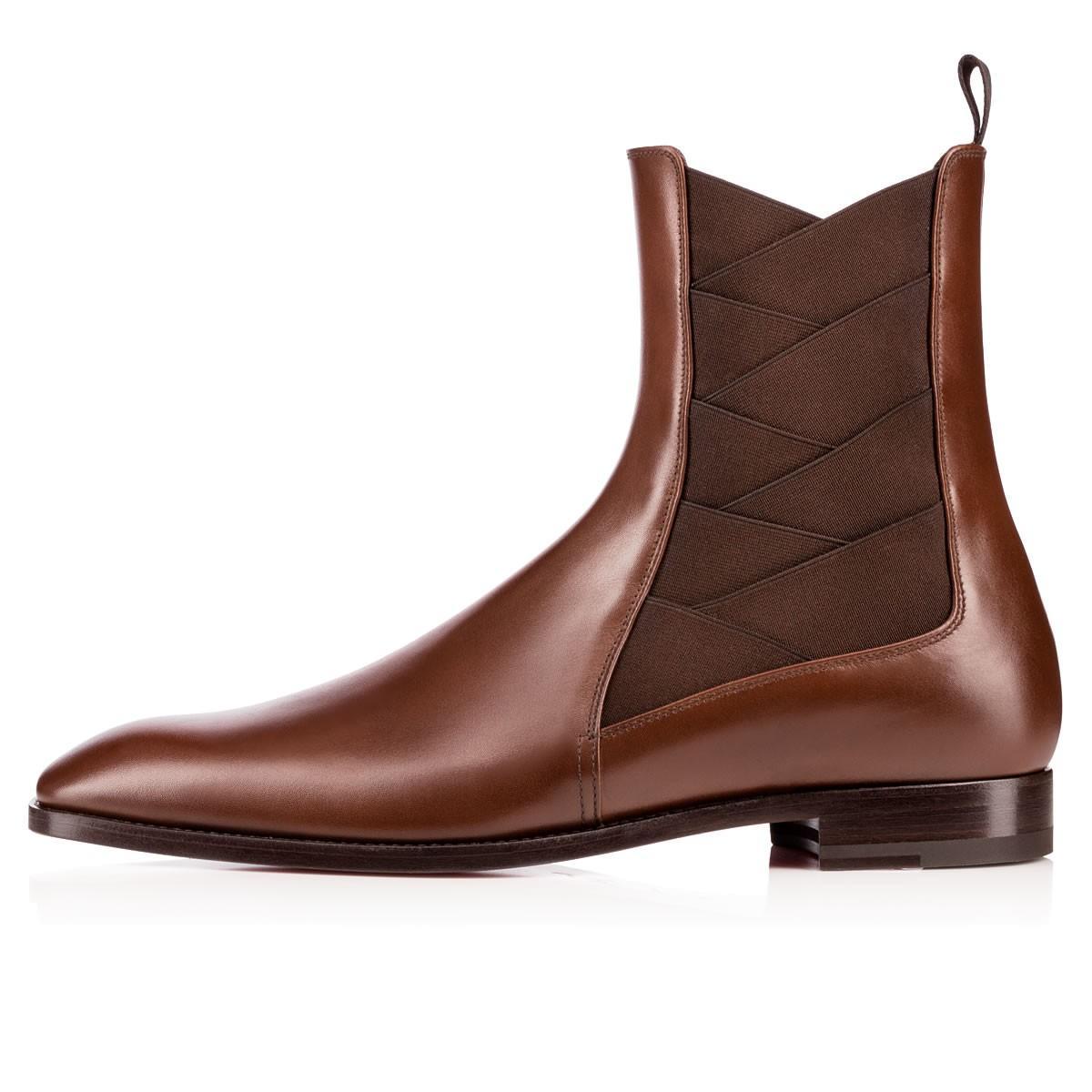 Boot caldo fondo di vendita-Rosso Uomo Designers Brians Cavaliere Stivali Vera pelle + Elastico Flats scarpe di cuoio Gentleman Parte di nozze