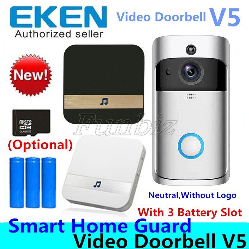 V5 Smart Video Intercom Video Door Phone Door Bell WIFI Doorbell Camera For Home IR Alarm Wireless Security Camera