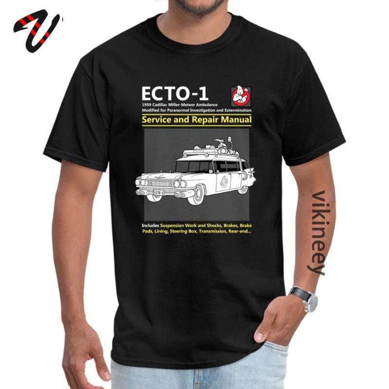 ECTO Ghostbusters DeLorean-T-Shirts Zurück in die Zukunft 100% Baumwolle Herren-Oberteile T-Shirts Verrückte Tees Tops für Männer Sommer / Herbst Kleidung