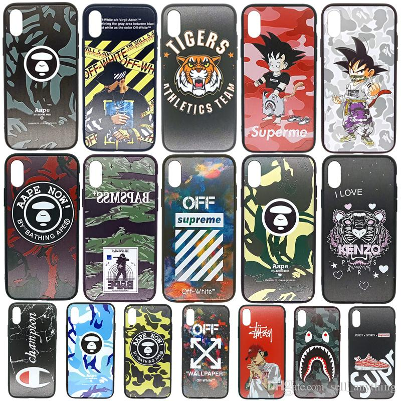 For Iphone Xr 11 Pro Xs Max Luxury Design Phone Case 6 7 8 X Plus Brand Champion Soft Edge Cell Phone Cases