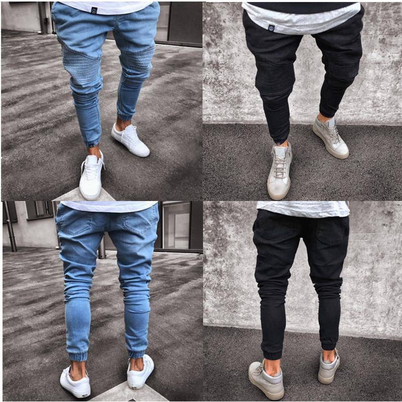 Compre Hot 2019 Pantalones Vaqueros Para Adolescentes De Alta Calidad Light Blue Tight Pantalones Elasticos De Cintura Alta S 4xl A 22 34 Del Boy Top2028 Dhgate Com