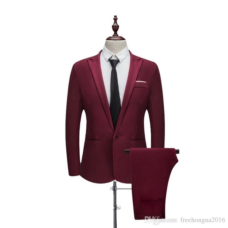 2 Pieces Blazer& Pants Suit Set Formal Business Blazers Sets Slim Plus Size 3XL Sets For Wedding Party Set
