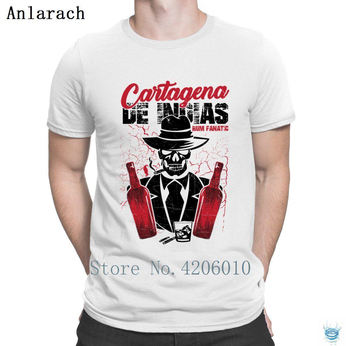 Tshirt Rum Fanatic Cartagena de Indias in Colombia maglietta Estate Graphic grande misura uomo Creare Tee Tops Anlarach Slim Fit
