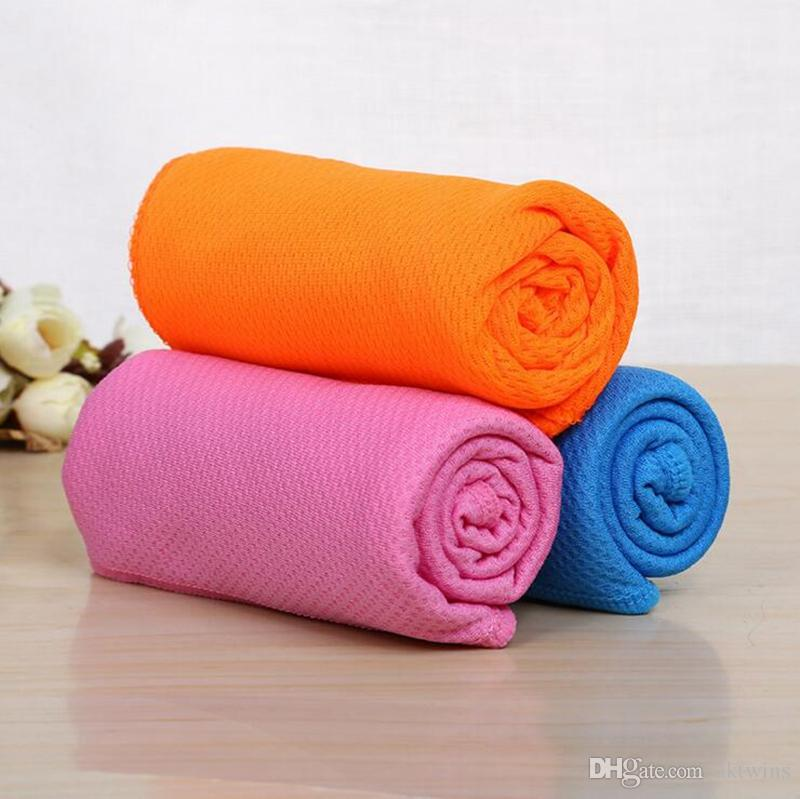 Sport Ice Asciugamano immediato raffreddamento del tovagliolo di fronte riutilizzabile fredda Asciugamani Quick Dry Panno yoga di forma fisica Arrampicata Esercizio 30 * 80cm YW1262-1Q