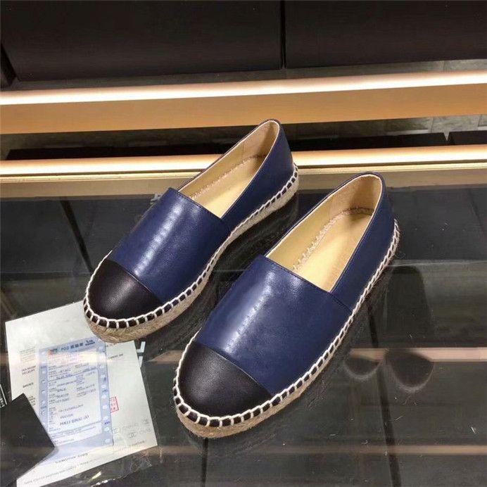 SICAK SALEFisherman Casual Otantik inek derisi Tasarımcı Tembel Casual kadın shoes0 Ayakkabı