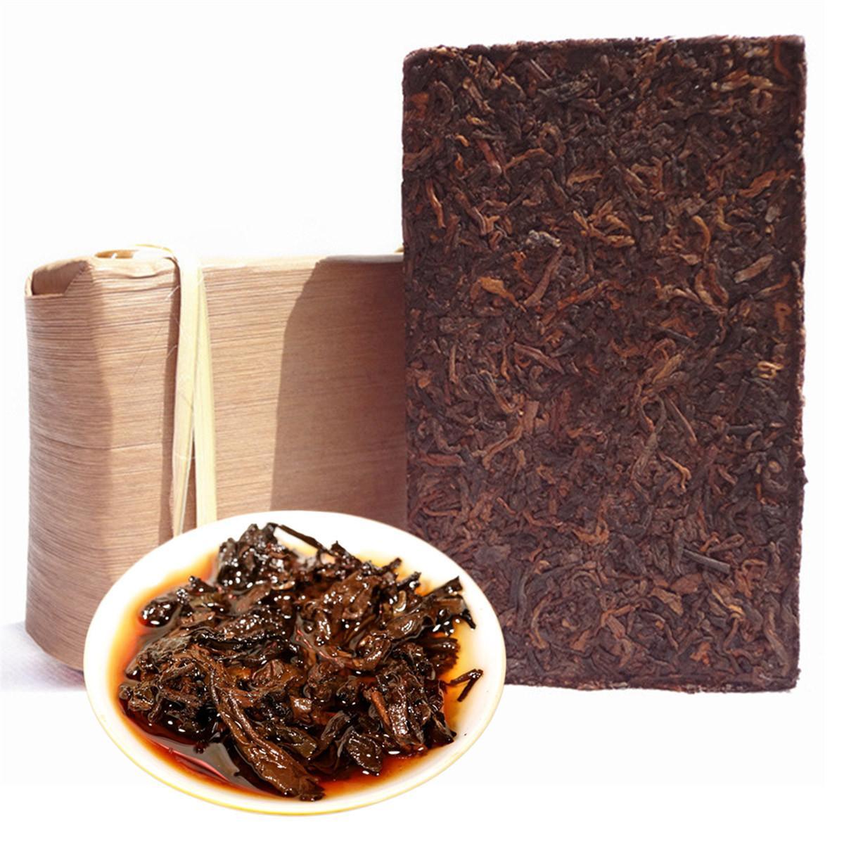 250 г спелый Пуэр чай кирпич Юньнань приготовленный Пуэр чай бамбуковая оболочка упаковка органический натуральный черный пуэр чай Зеленый продвижение продуктов питания