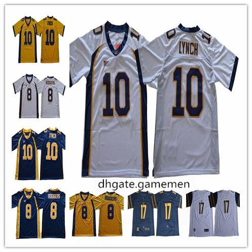 watch 05c18 de958 2019 NCAA California Golden Bears Marshawn Lynch 10 Aaron Rodgers College  17 DeSean Jackson 1 Melquise Stovall Navy White Yellow Stitched Jersey From  ...