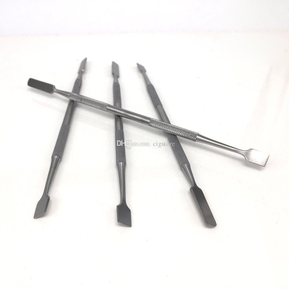 I più venduti SS color cera secca erba vaproizer acciaio inossidabile Carving Sputula Dual Tip tamponare strumento per concentrato cera olio atomizzatore penna vape