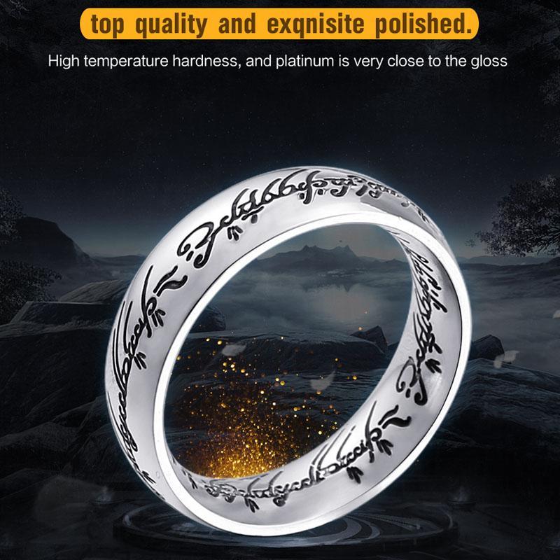 2018 고품질 스테인레스 스틸 Hobbit의 하나의 반지 한 여자의 반지 남성 반지 반지 패션 주얼리 도매 LLBR-R059