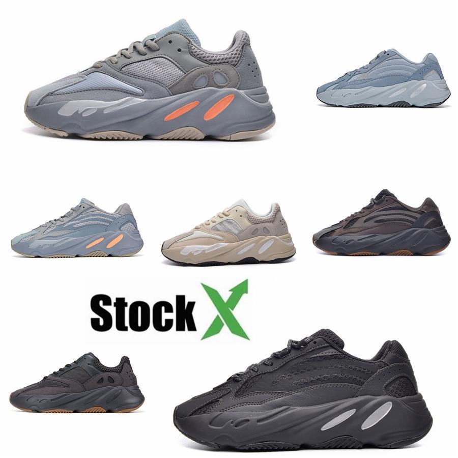 Imán 700 V2 Vanta corredor de la onda Geode inercia gris sólido Vanta Geode estático malva Hombres Mujeres Kanye West zapatos corrientes de las zapatillas de deporte diseñador # DSK460