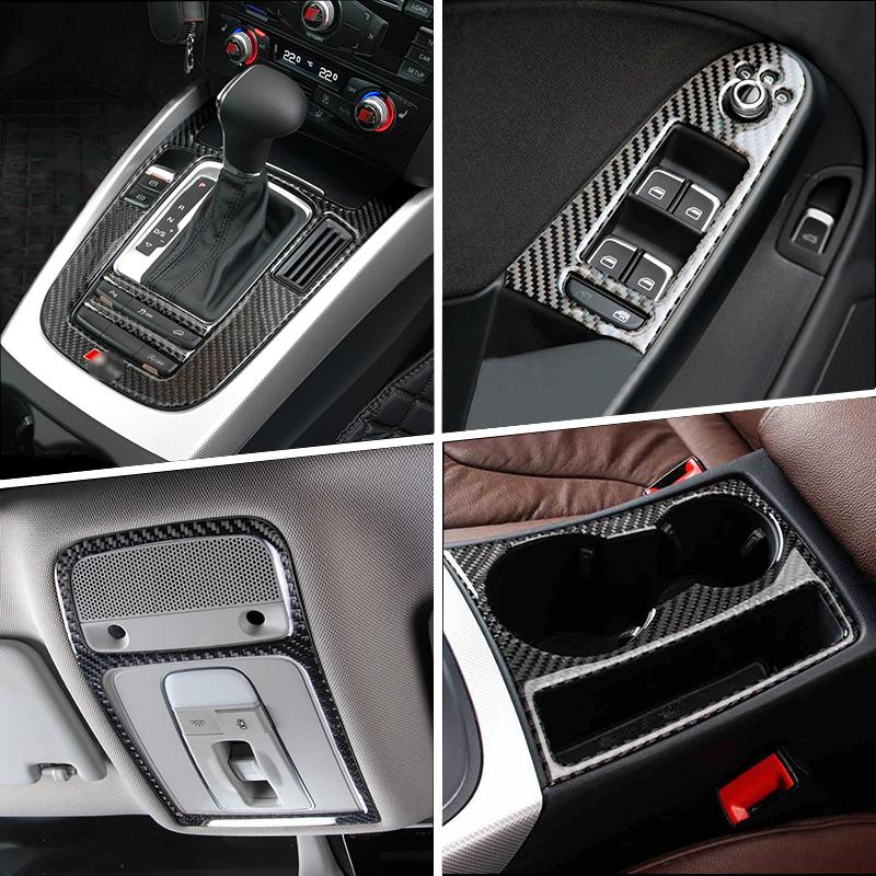 Todayday Light and Beautiful 4 PCS Car Carbon Fiber Inner Door Wrist Decorative Panel for Audi A3,Easy to Install