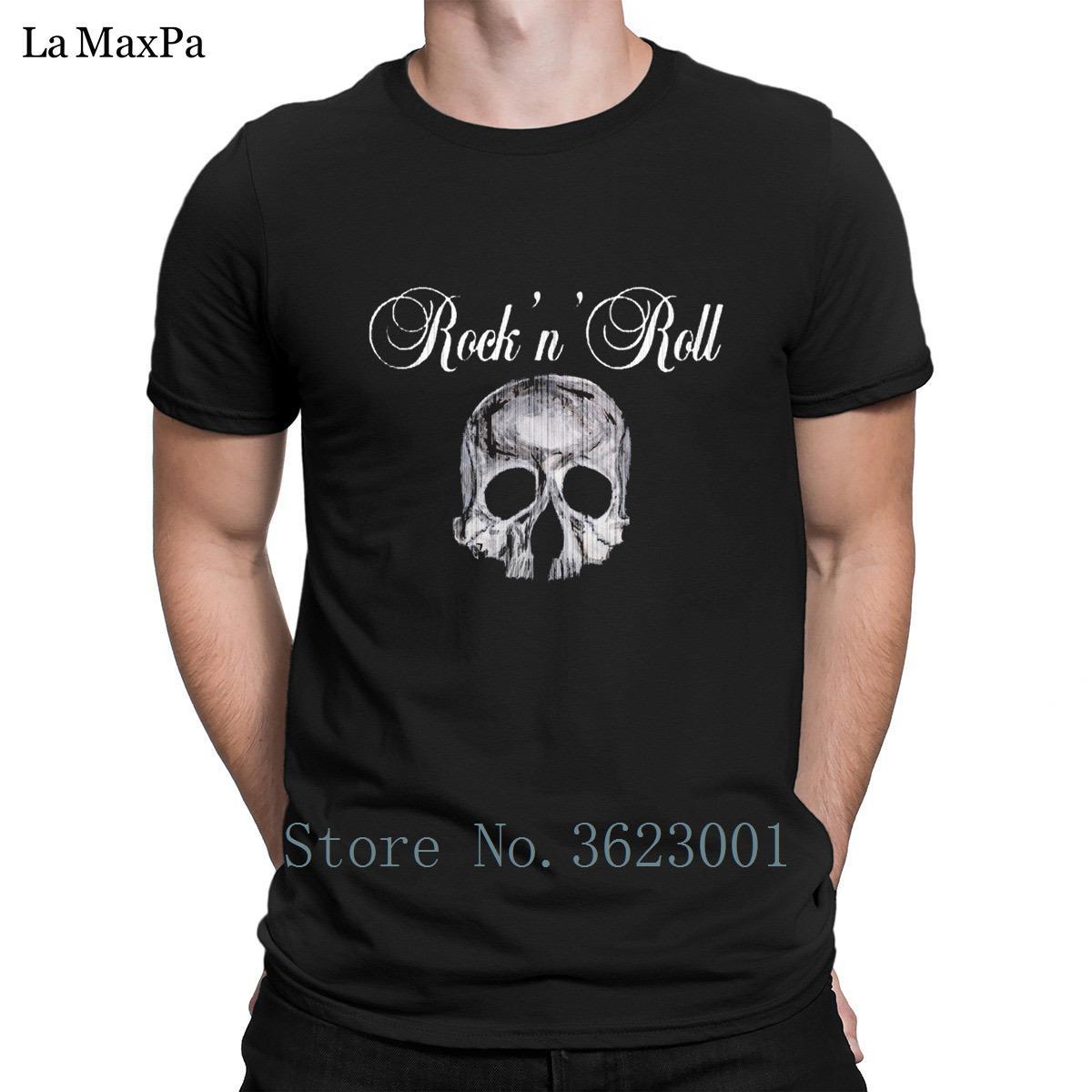 Erkekler Yuvarlak Yaka Fitness İçin Yaratık Şık Tişört Erkek KAFATASI rock'n'roll BÖLGE Tişört Temel Erkekler Tee Gömlek Komik Tişörtlü