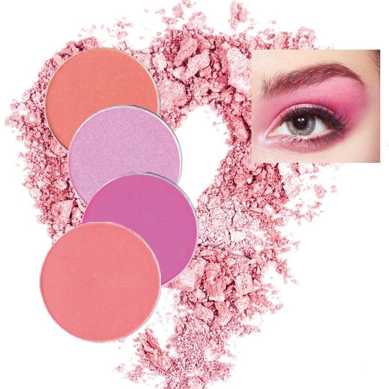 Color Salon INS Red&pink Color Glitter Shimmer Eye Makeup focallu Pigmented Powder Waterproof Matte Eye Shadow Beauty