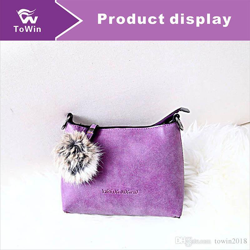 Newest Commuter Bag Hot Sell Classic Fashion Flap Bags Women Pompon Decoration Tote Sling Bag Shoulder Bags Lady Handbags Purse Mini Totes
