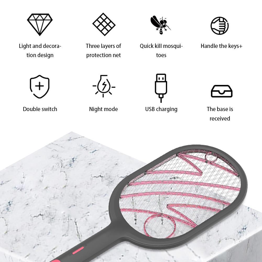 Nuova batteria cordless Electric Power mosca zanzara Swatter Bug Zapper Racket Insetti Killer casa Bug Zappers repellente della zanzara