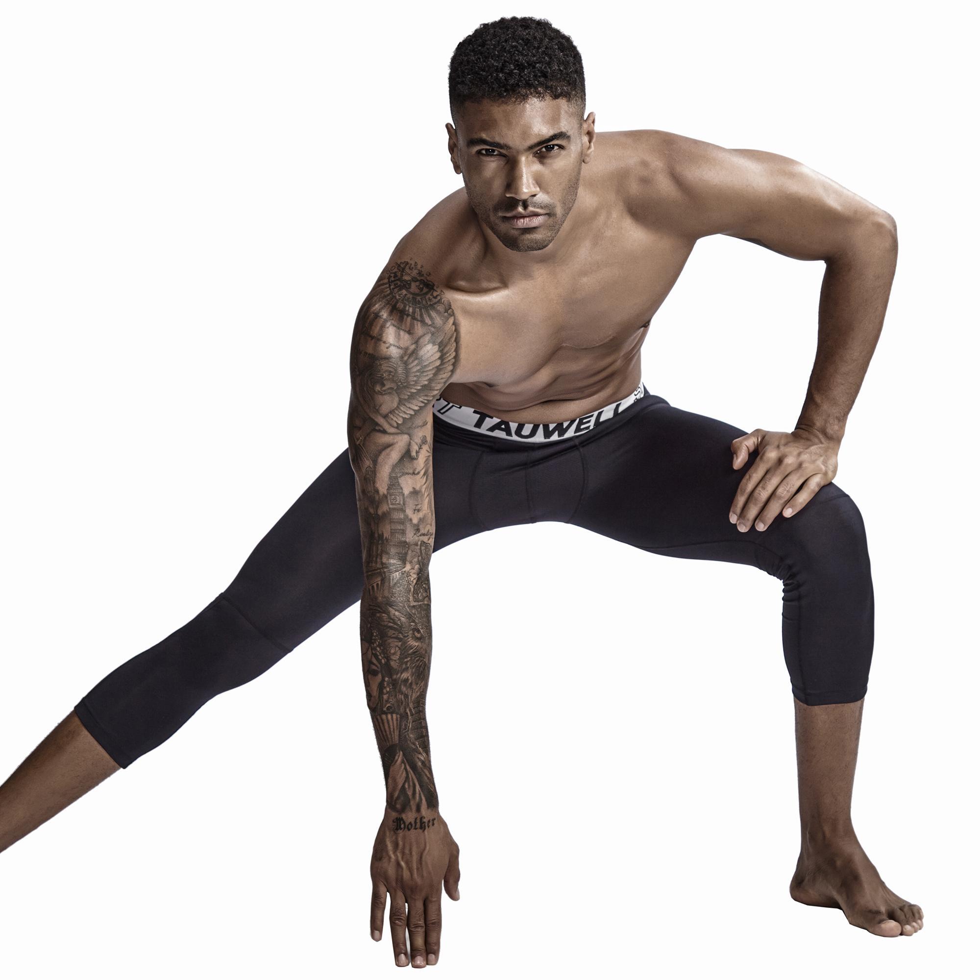 2020 Мода Марка Мужчины Девять Брюки Pure Long Johns Basic поножи Gay Men Solid Capris Фитнес Трусы