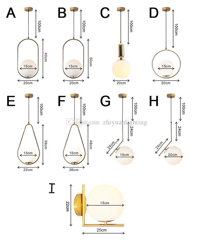 Nodic Cam Top Kolye Işık Giyim Dekorasyon için Altın Kolye Aydınlatma Armatürü Oturma Roon Yatak Odası Restoran