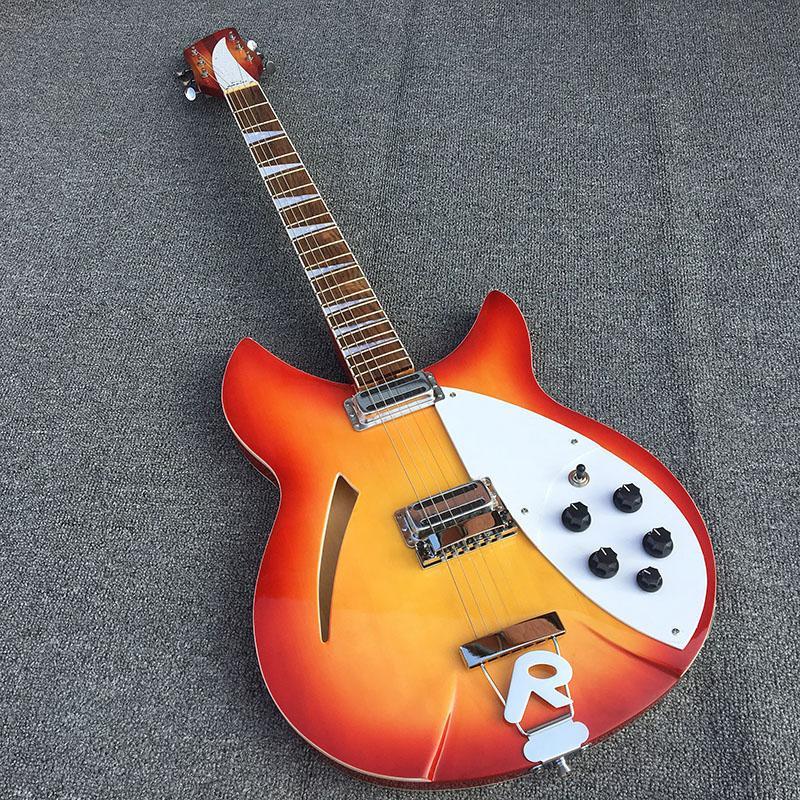 6 cuerdas Ricken 360 guitarra eléctrica, con dos salidas, cuerpo de tilo, mástil de caoba con barniz brillante, envío libre