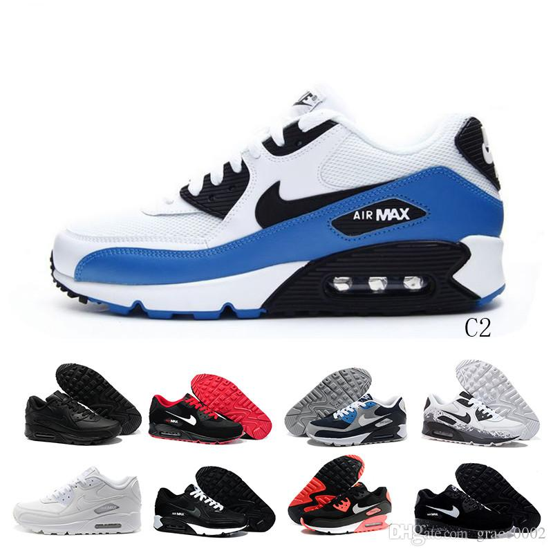 nike air max 90 airmax 2018 Hot Sale Coussin 90 Chaussures Hommes Casual 90 Haute Qualité New casual sport bon marché Pointure 36-45 L5S5CE
