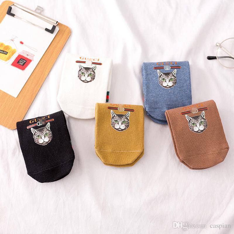 Новое прибытие женщин коротких носки Марк Письмо Хлопок носки для подарков Mix Color Casual спортивных носков