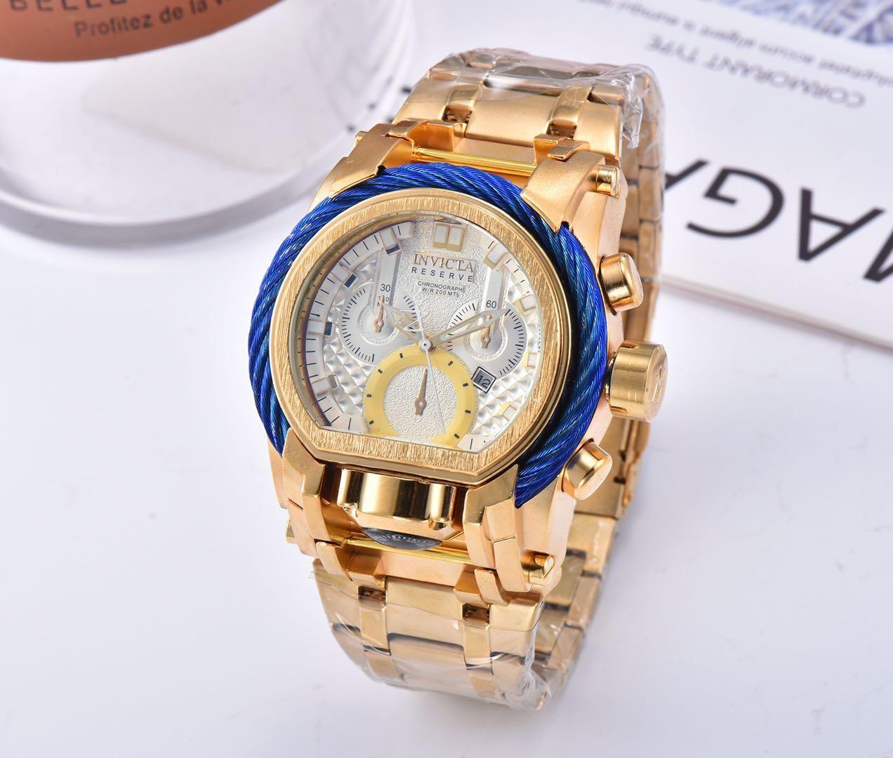 sport di alta qualità e il calendario per il tempo libero di quarzo filo di acciaio orologio bussola DZ7333 quadrante grande personalità maschile