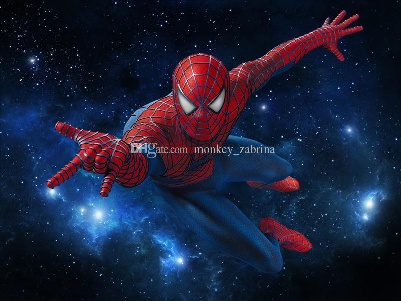 Compre Galaxy Spiderman Wallpaper 3d Wallpaper Para Paredes Super Hero Wallpaper Avengers Mural De La Pared Dormitorio De Los Niños Tv Fondo De La