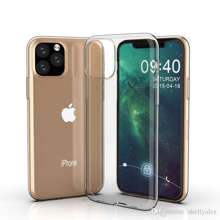 Caso 1.5mm TPU para el caso del iphone XS silicona Soft Shell protectora transparente para Samsung Nota 10 Nota 10 + con el bolso del opp