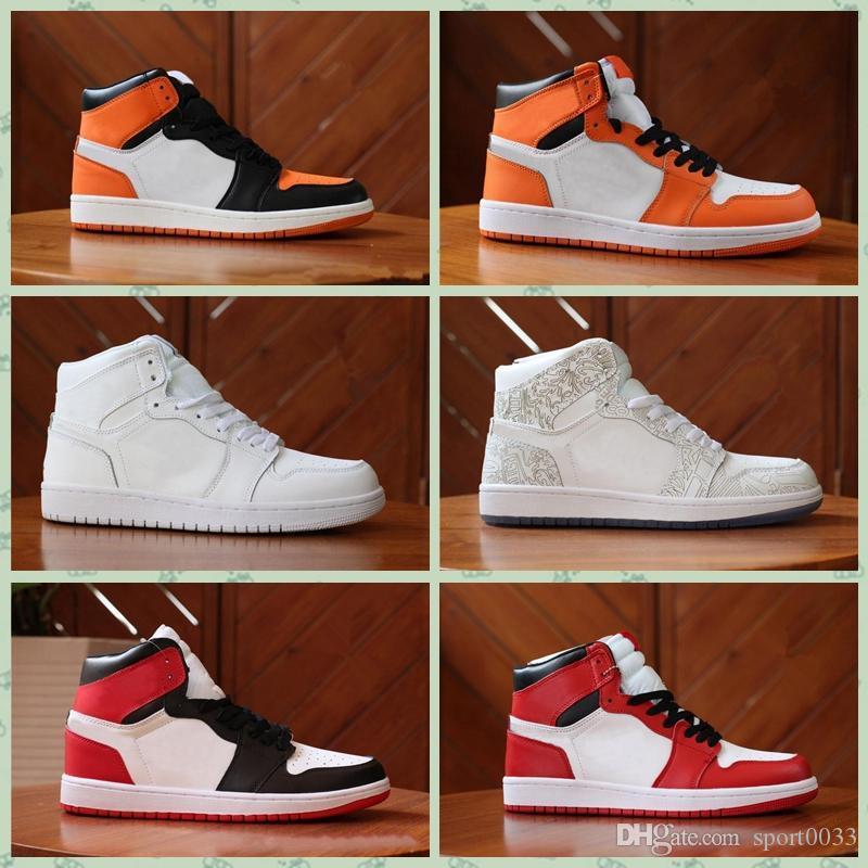 Hococal 2020 J001HB 1 Chicago blanco rojo Top 3 negros del dedo del pie zapatos al aire libre sombra Bred Mens formadores 1s Royal zapatillas de deporte de Michael Deportes